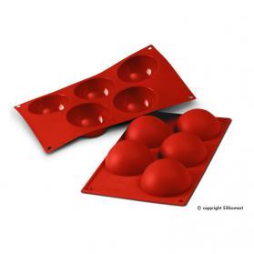 stampo semisfera in silicone